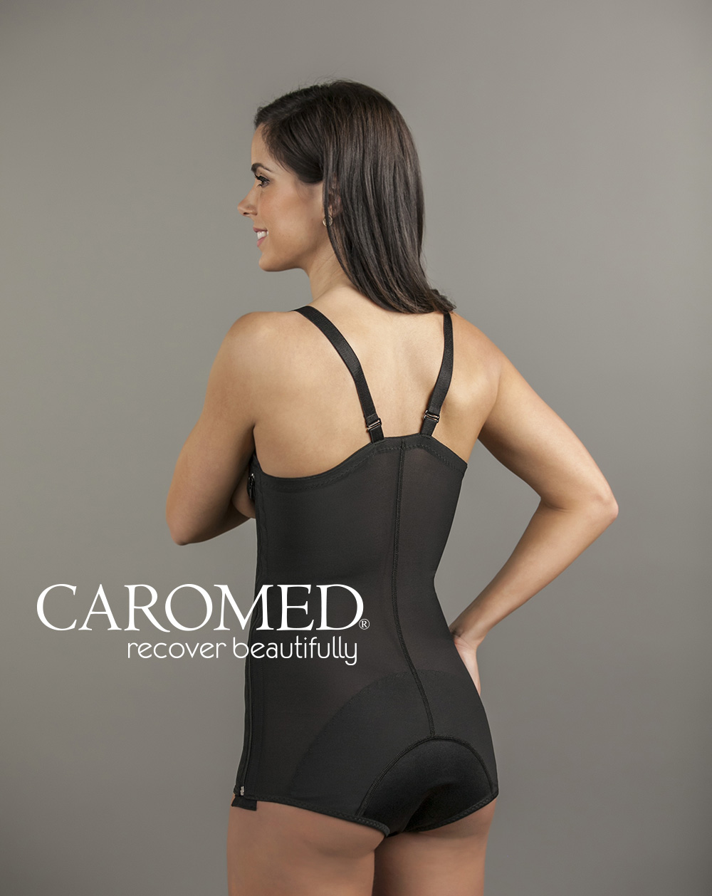 4-4010 Legless Suspendered Girdle-Black-Back