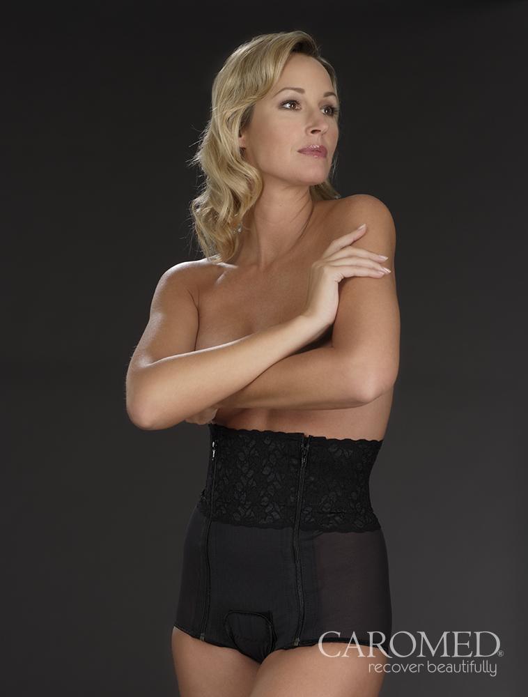 Caromed 3-8005 Female Abdominoplasty Garment-Black WM