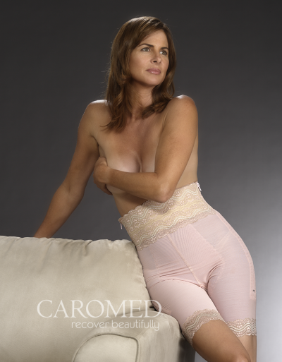 Caromed 4-8011 Powerknit Mid-Thigh Girdle-Pink WM