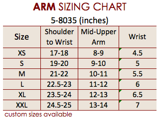 Size Chart Arm 5-8035