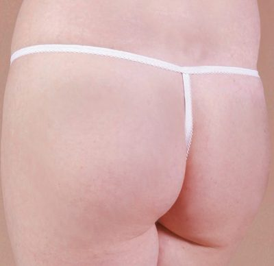 Caromed 7-8505 Female White Thong Cut Disposable Photo Panties (50/bag)