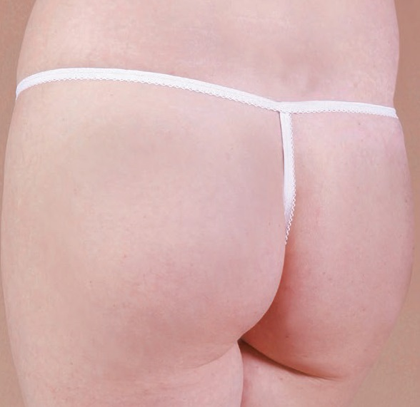 Caromed 7-8505 Female White Thong Cut Disposable Photo Panties (50/bag)